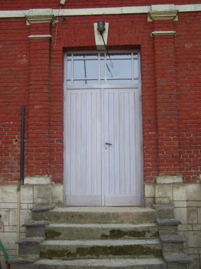 Porte d'entrée pleine a lame