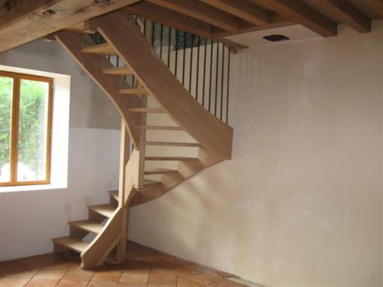 escalier bois-métal en chêne