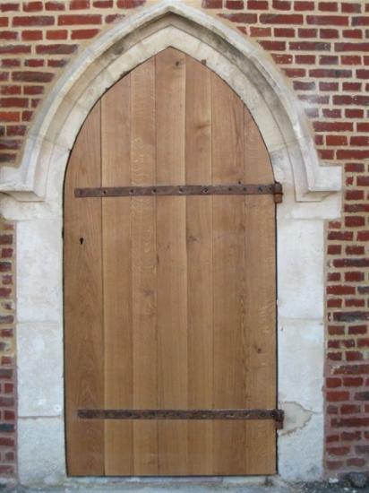 porte d'église en chêne